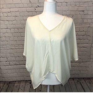 TOBI  / white cold shoulder blouse